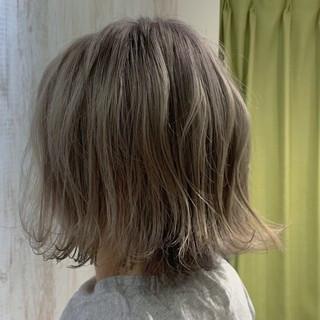 ダブルカラー 透明感カラー デザインカラー 圧倒的透明感 ヘアスタイルや髪型の写真・画像