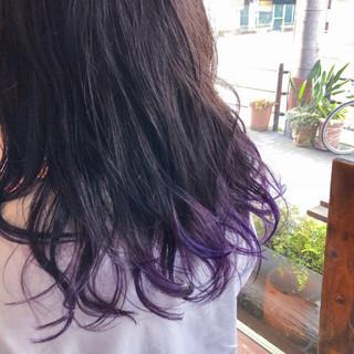 外国人風カラー ヘアアレンジ インナーカラー モード ヘアスタイルや髪型の写真・画像 ヘアスタイルや髪型の写真・画像