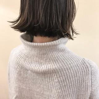 アンニュイ ゆるふわ ハイライト ボブ ヘアスタイルや髪型の写真・画像