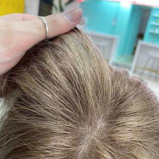 ブリーチ ベージュ ナチュラル ブリーチオンカラー ヘアスタイルや髪型の写真・画像