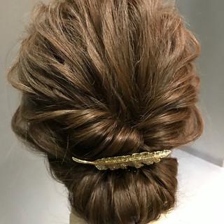 アップスタイル 和装 ナチュラル セミロング ヘアスタイルや髪型の写真・画像