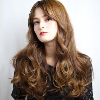 ブラウン 外国人風 パーマ グラデーションカラー ヘアスタイルや髪型の写真・画像
