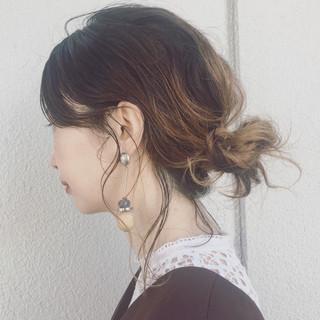 簡単ヘアアレンジ デート リラックス 女子会 ヘアスタイルや髪型の写真・画像