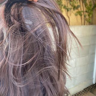 インナーカラー ミニボブ ナチュラル ロング ヘアスタイルや髪型の写真・画像
