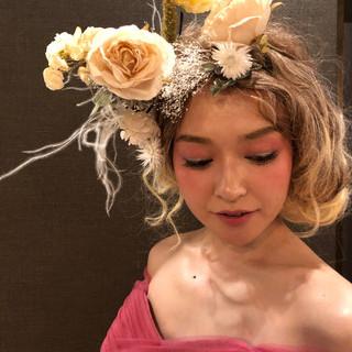 結婚式 福岡市 花嫁 ロング ヘアスタイルや髪型の写真・画像