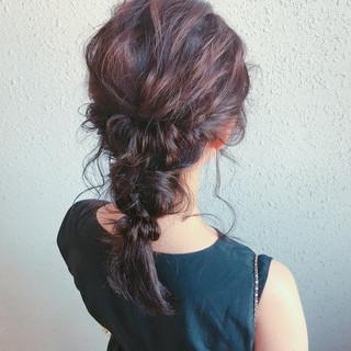 女子会 デート ミディアム 結婚式 ヘアスタイルや髪型の写真・画像