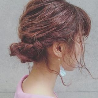 ゆるふわ 波ウェーブ 簡単ヘアアレンジ ショート ヘアスタイルや髪型の写真・画像