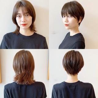 簡単ヘアアレンジ 黒髪 ショート オフィス ヘアスタイルや髪型の写真・画像