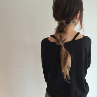 グラデーションカラー ショート ロング 簡単ヘアアレンジ ヘアスタイルや髪型の写真・画像 ヘアスタイルや髪型の写真・画像