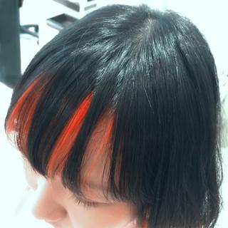 カラーバター ボブ ブリーチ ガーリー ヘアスタイルや髪型の写真・画像