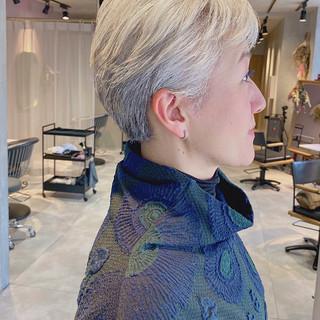 ベリーショート ハンサムショート 大人ショート ショート ヘアスタイルや髪型の写真・画像