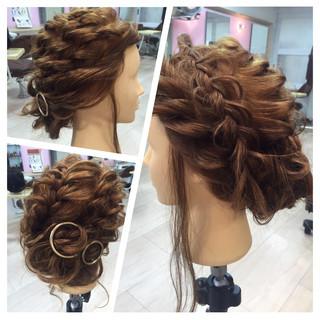 ヘアアレンジ 編み込み 裏編み込み フィッシュボーン ヘアスタイルや髪型の写真・画像 ヘアスタイルや髪型の写真・画像