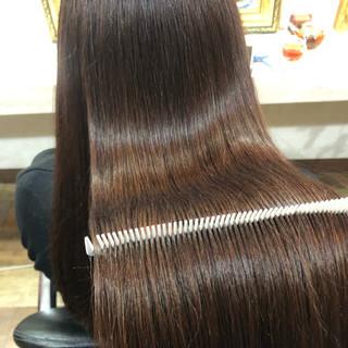 ナチュラル ロング 髪質改善トリートメント 美髪 ヘアスタイルや髪型の写真・画像