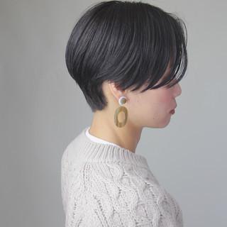 ハンサムショート ジェンダーレス サイドグラデーション ショート ヘアスタイルや髪型の写真・画像