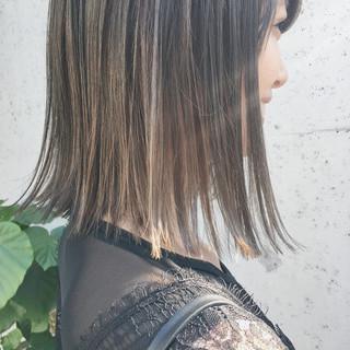 ハイライト リラックス 透明感 ボブ ヘアスタイルや髪型の写真・画像