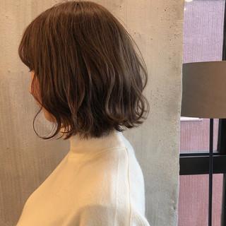 オフィス ナチュラル ヘアアレンジ ロブ ヘアスタイルや髪型の写真・画像