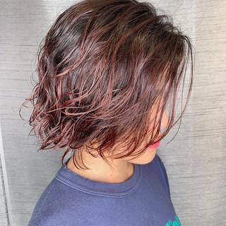 大人可愛い 無造作ヘア ミディアム 大人ハイライト ヘアスタイルや髪型の写真・画像