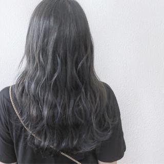 セミロング グラデーションカラー ブリーチ ストリート ヘアスタイルや髪型の写真・画像