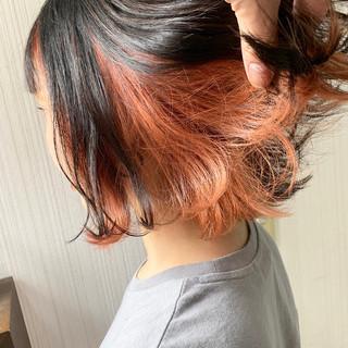 簡単ヘアアレンジ ナチュラル ボブ ミルクティーグレージュ ヘアスタイルや髪型の写真・画像