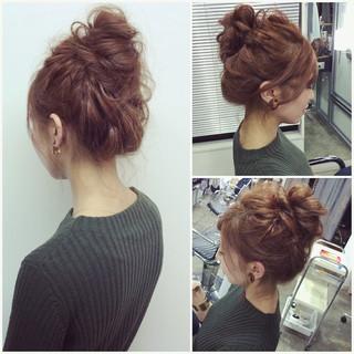 簡単ヘアアレンジ ナチュラル ゆるふわ セミロング ヘアスタイルや髪型の写真・画像