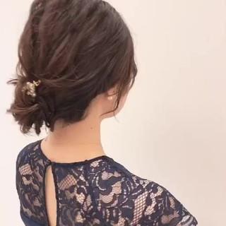 ミディアム 大人かわいい エレガント 簡単ヘアアレンジ ヘアスタイルや髪型の写真・画像