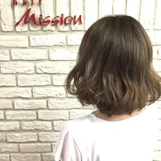 ボブ グレージュ 愛され モテ髪 ヘアスタイルや髪型の写真・画像 ヘアスタイルや髪型の写真・画像