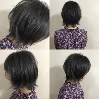 色気 大人かわいい 暗髪 ショート ヘアスタイルや髪型の写真・画像