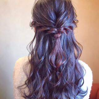 結婚式 ロング エレガント 簡単ヘアアレンジ ヘアスタイルや髪型の写真・画像 ヘアスタイルや髪型の写真・画像