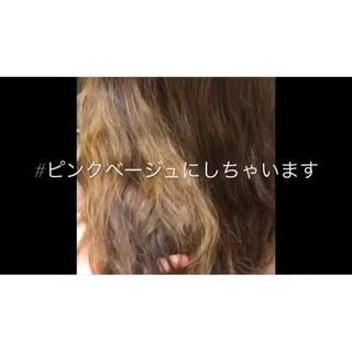 ラベンダーアッシュ ロング イルミナカラー ピンク ヘアスタイルや髪型の写真・画像
