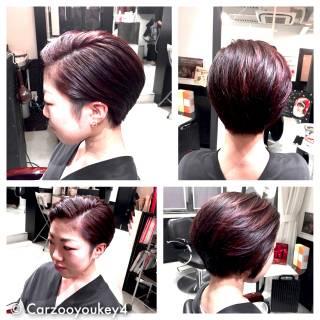 ウェットヘア モード 暗髪 ショート ヘアスタイルや髪型の写真・画像 ヘアスタイルや髪型の写真・画像
