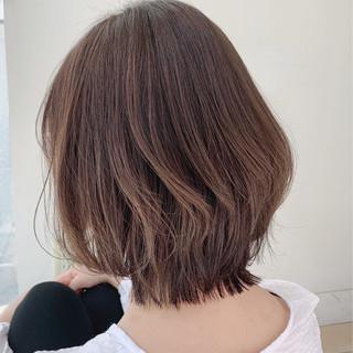 フェミニン レイヤー シースルーバング モテボブ ヘアスタイルや髪型の写真・画像