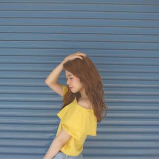 ウェーブ ストリート セミロング 外国人風 ヘアスタイルや髪型の写真・画像