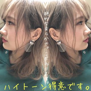 外国人風カラー ナチュラルベージュ 外国人風 外国人風フェミニン ヘアスタイルや髪型の写真・画像