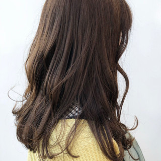 セミロング 大人かわいい ナチュラル パーマ ヘアスタイルや髪型の写真・画像