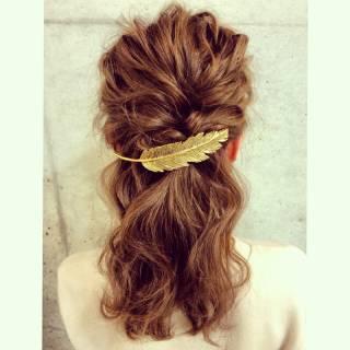 モテ髪 ゆるふわ バレッタ アップスタイル ヘアスタイルや髪型の写真・画像