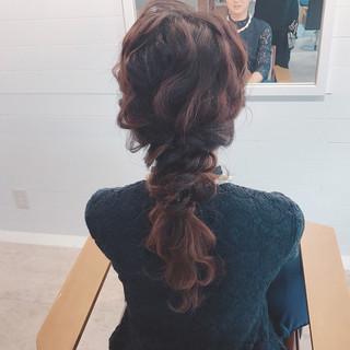 女子会 結婚式 アンニュイ ヘアアレンジ ヘアスタイルや髪型の写真・画像