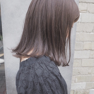 リラックス 切りっぱなし ナチュラル イルミナカラー ヘアスタイルや髪型の写真・画像