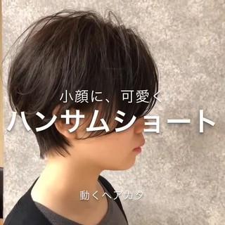 ショート ミニボブ 銀座美容室 ハンサムショート ヘアスタイルや髪型の写真・画像
