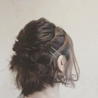 成人式 ナチュラル デート ボブ ヘアスタイルや髪型の写真・画像
