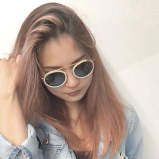 外国人風 3Dカラー ストリート セミロング ヘアスタイルや髪型の写真・画像