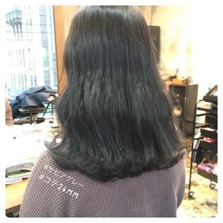 フェミニン セミロング 韓国ヘア オルチャン ヘアスタイルや髪型の写真・画像