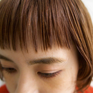 イルミナカラー 秋 ナチュラル オレンジベージュ ヘアスタイルや髪型の写真・画像