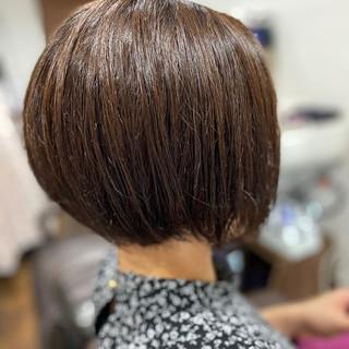 ナチュラル 髪質改善トリートメント 髪質改善 ショートヘア ヘアスタイルや髪型の写真・画像