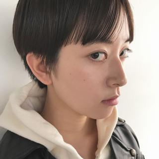 マッシュ 秋冬ショート ショート 大人女子 ヘアスタイルや髪型の写真・画像