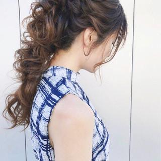 結婚式 ヘアアレンジ 上品 パーティ ヘアスタイルや髪型の写真・画像