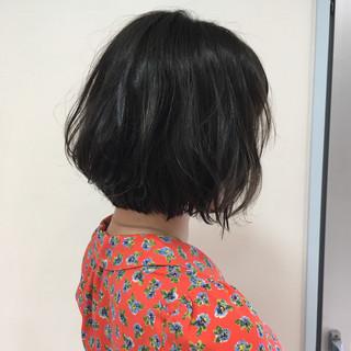 パーマ グレージュ ショート ひし形 ヘアスタイルや髪型の写真・画像