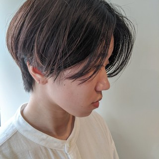 ヘルシースタイル マッシュショート ベリーショート ショート ヘアスタイルや髪型の写真・画像