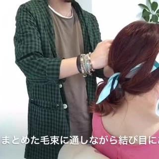 ルーズ ヘアアレンジ ミディアム ヘアアクセ ヘアスタイルや髪型の写真・画像