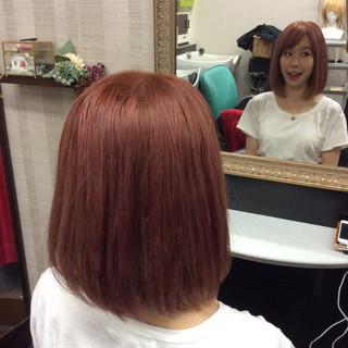 ガーリー ボブ 外国人風カラー ダブルカラー ヘアスタイルや髪型の写真・画像 ヘアスタイルや髪型の写真・画像