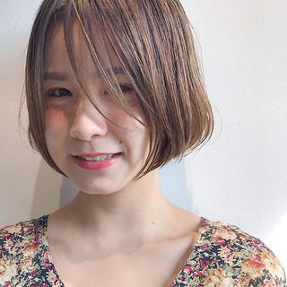 デート フェミニン ボブ 女子力 ヘアスタイルや髪型の写真・画像